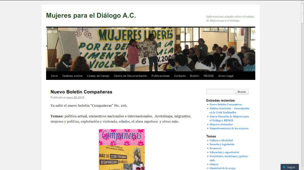 Mujeres para el Diálogo, A. C.